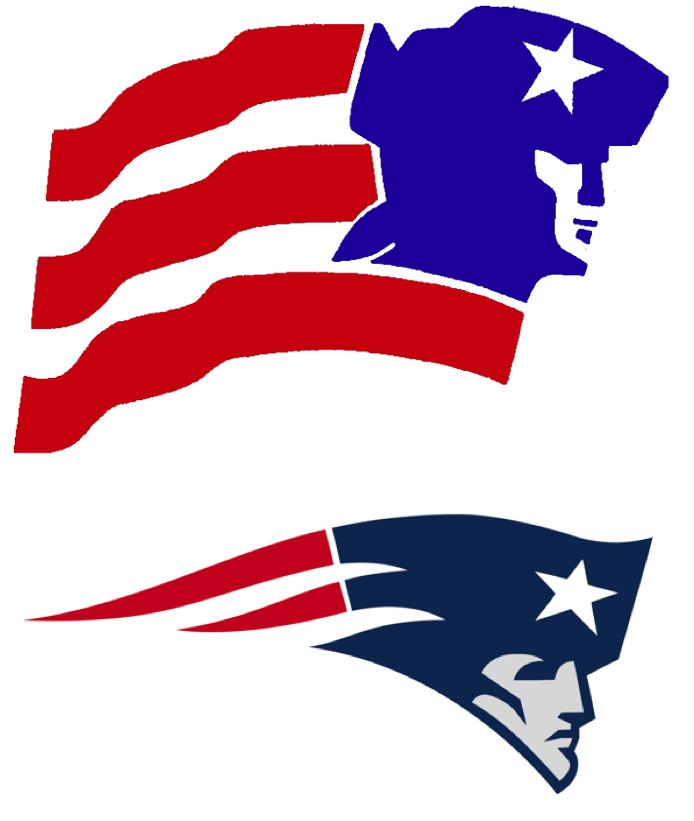 New england patriots logo clipart jpg transparent library Uni Watch traces the lineage of the Patriots'