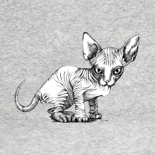 New hairless cat at home funny clipart clipart freeuse download Sphynx Cat T-Shirts | TeePublic clipart freeuse download