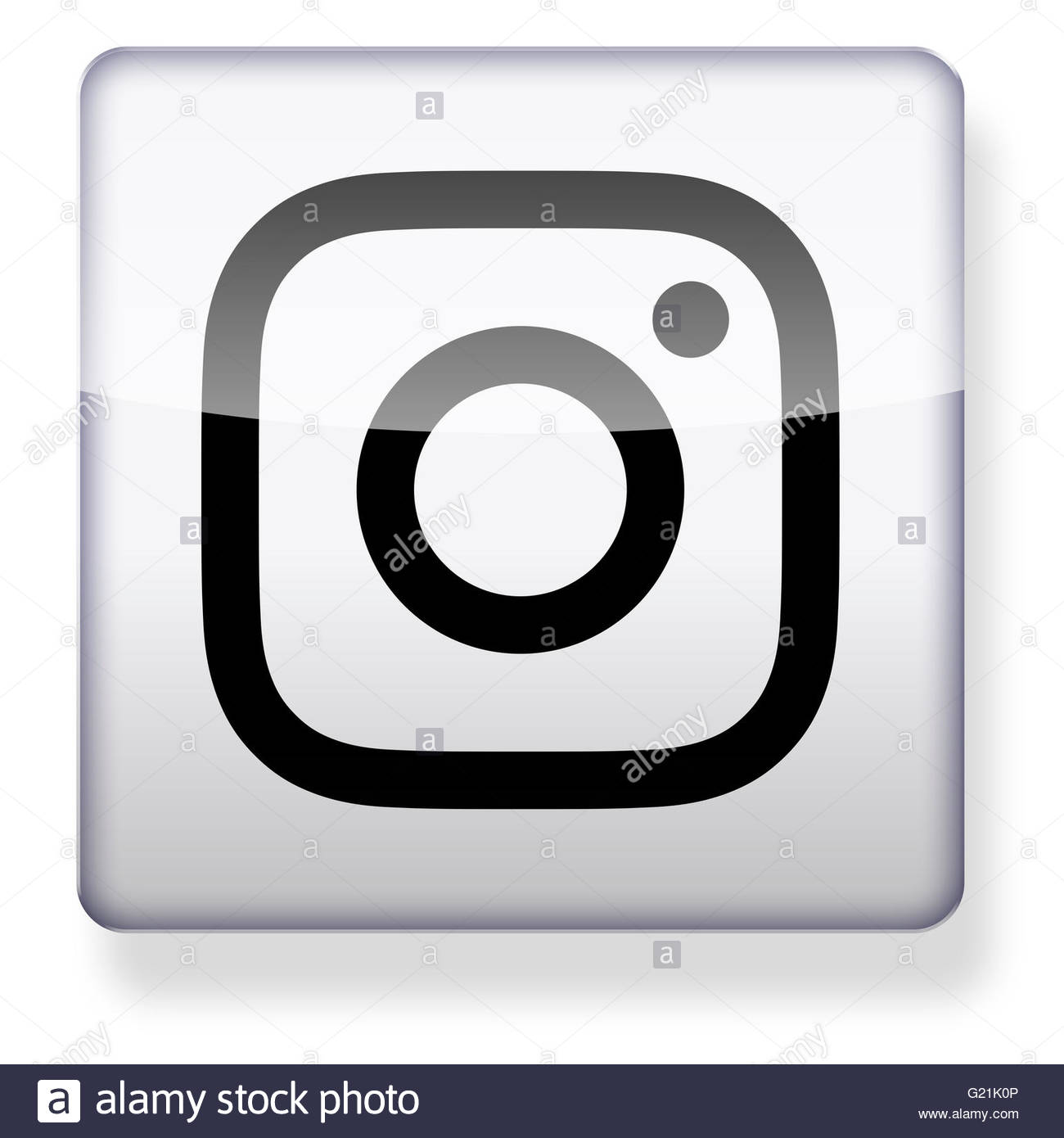 New instagram icon clipart clip art freeuse library New Instagram Logo As An App Icon. Clipping Path Included Stock ... clip art freeuse library
