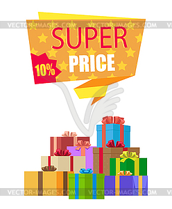 New offer clipart graphic royalty free download Super Price 10 Off Special Exclusive Offer on New - vector ... graphic royalty free download