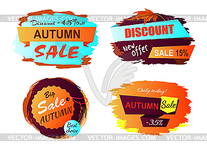 New offer clipart clip freeuse stock Autumn Sale New Offer - vector clipart clip freeuse stock