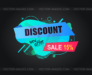 New offer clipart picture royalty free stock Discount New Offer Sale 15 Percents Off Banner - vector EPS ... picture royalty free stock