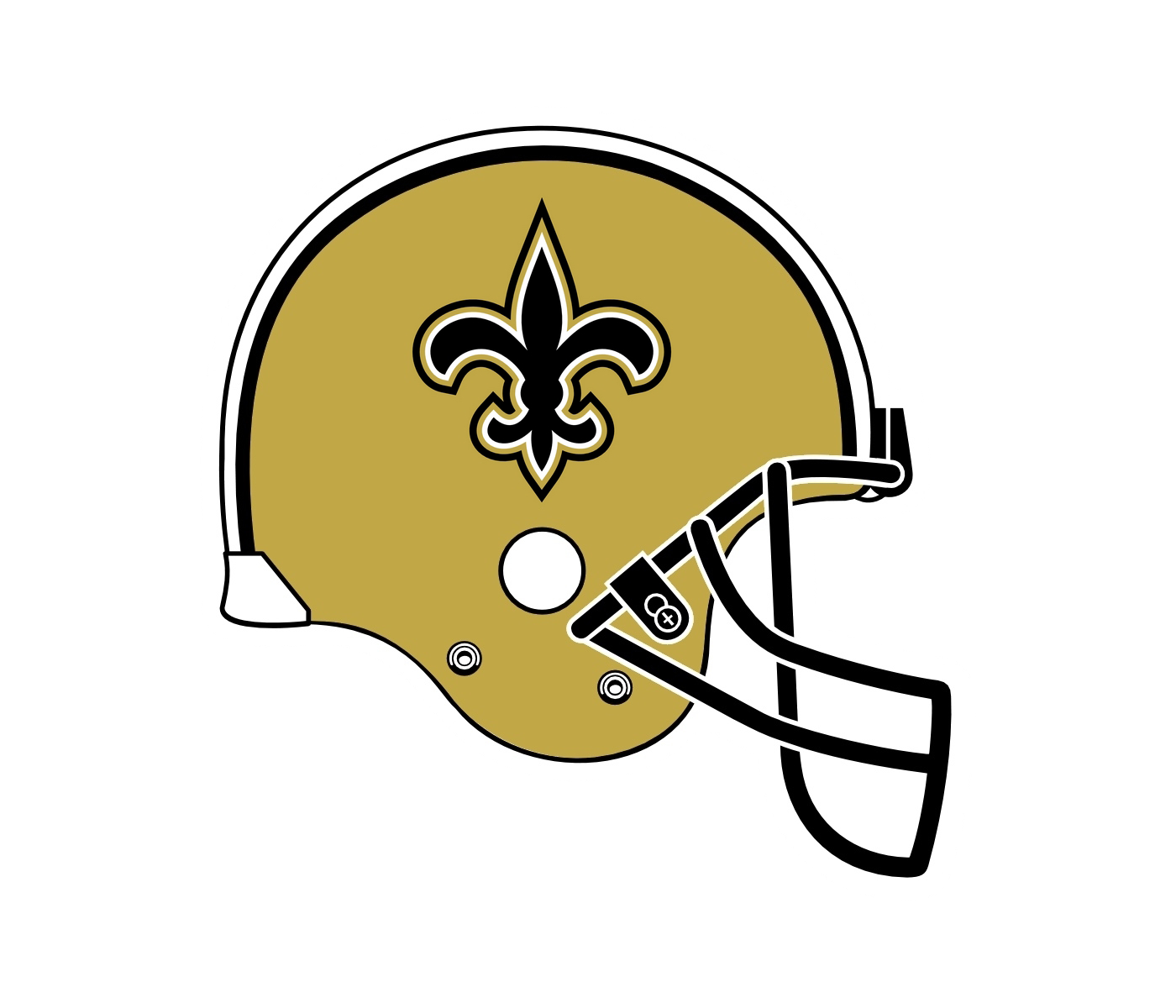 New orleans saints football clipart clip art freeuse stock New Orleans Saints Logo PNG Transparent & SVG Vector - Freebie Supply clip art freeuse stock