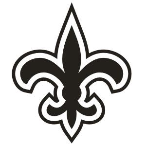 New orleans saints logo clipart png transparent stock Saints Fleur De Lis Stencil - ClipArt Best png transparent stock