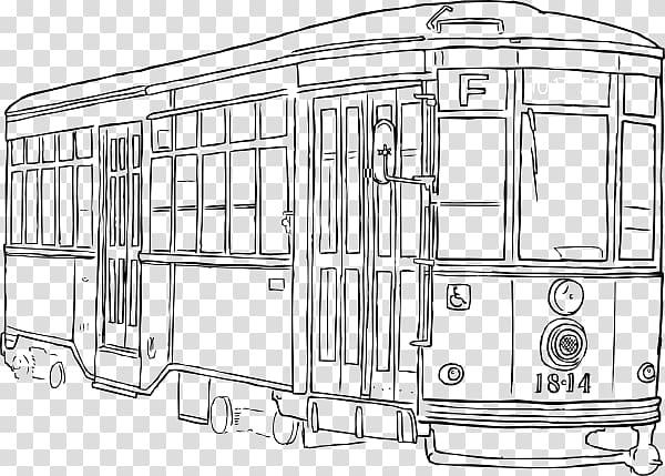 New orleans streetcar clipart transparent download Tram New Orleans , Streetcar transparent background PNG ... transparent download