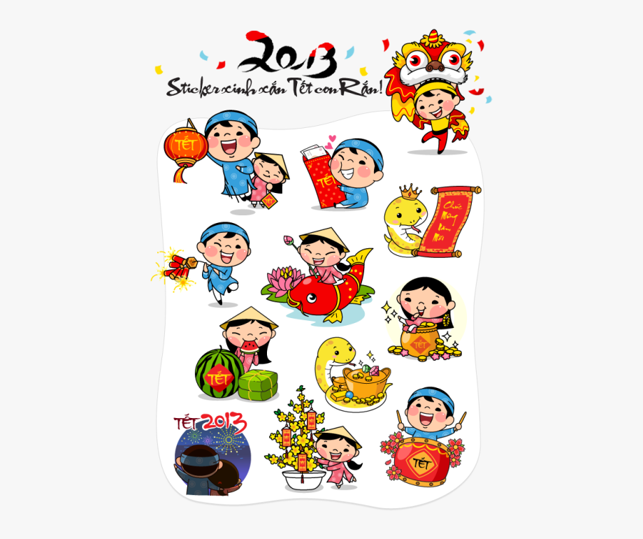 New sticker clipart picture royalty free stock Vietnam Clipart Tet - Vietnamese New Year Stickers #828190 ... picture royalty free stock