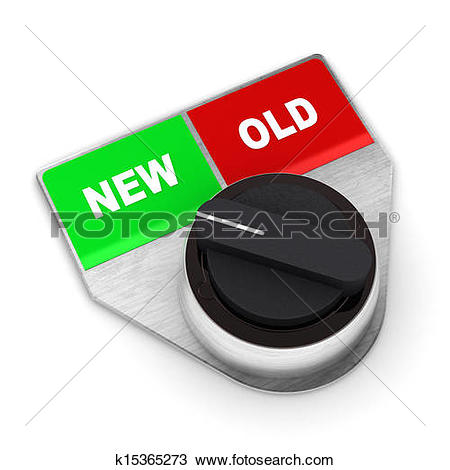 New vs old clipart clipart stock Drawing of New Vs Old Concept Switch k15365273 - Search Clipart ... clipart stock