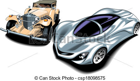 New vs old clipart clipart Vectors Illustration of old and new sport cars (my original design ... clipart