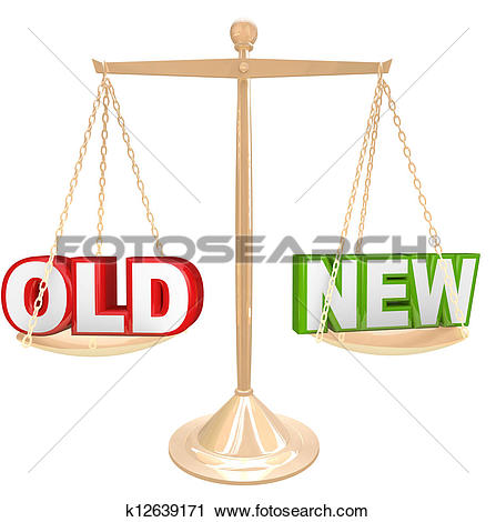New vs old clipart free stock Clipart of Old Vs New Words on Balance Scale Weighing Comparison ... free stock