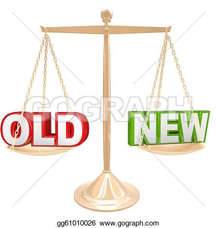 New vs old clipart clip art library download Clip Art - Old vs new words on balance scale weighing comparison ... clip art library download