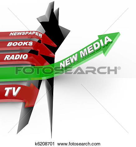 New vs old clipart clip Clipart of New Media vs. Old Media - Technologies Beat Older ... clip