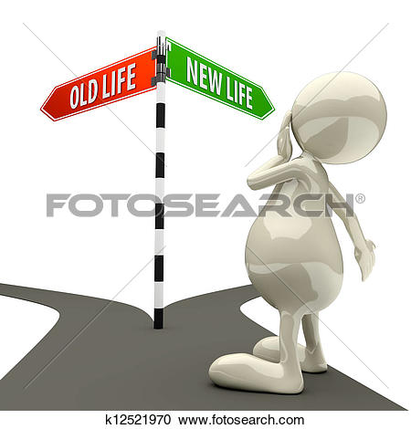 New vs old clipart graphic library library Clip Art of old life versus new life road sign cycle k14215369 ... graphic library library