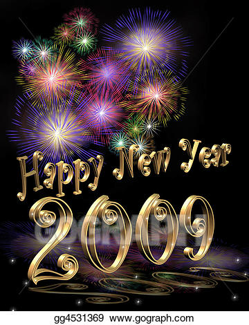 New year 2009 clipart picture free library Clip Art - New year 2009 . Stock Illustration gg4531369 ... picture free library