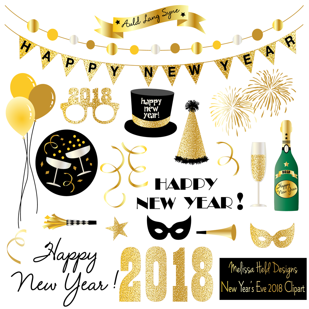 New year 2018 clipart clip library library New Year\'s Eve 2018 Clipart clip library library