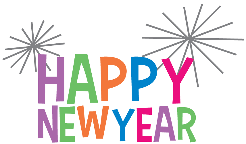 Happy new year text clipart clipart library library Happy New Year Clipart Colourful transparent PNG - StickPNG clipart library library