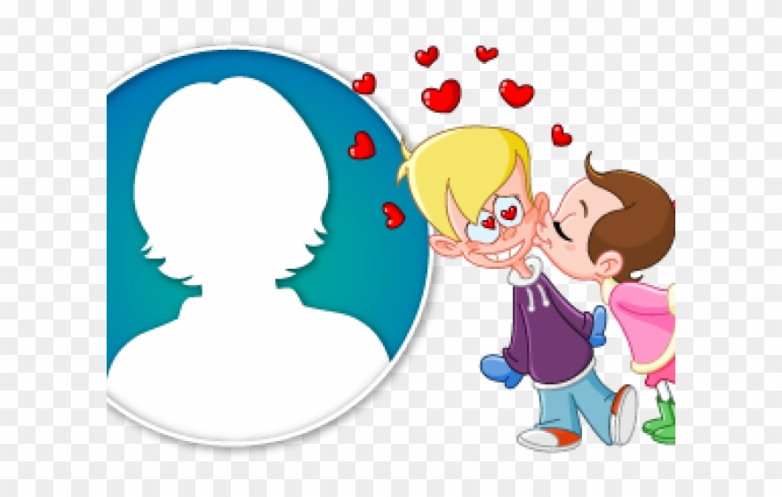 New year clipart 2016 clipart transparent library New Year Clipart 2016 Cartoon - Girl Kissing Boy On Cheek Cartoon ... clipart transparent library