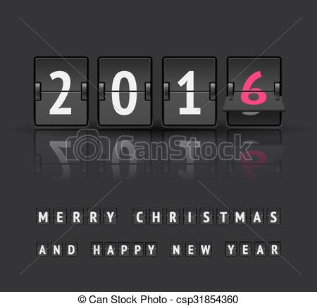 New year clipart 2016 countdown png transparent download Clip Art Vector of New year countdown - New year 2016 countdown ... png transparent download