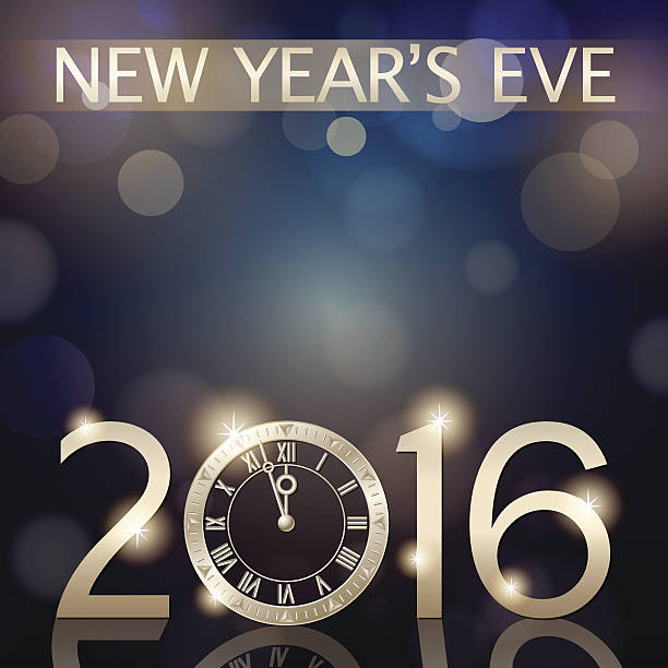 New year clipart 2016 countdown svg black and white stock New Year 2016 Sparkling Background Clip Art, Vector Images ... svg black and white stock