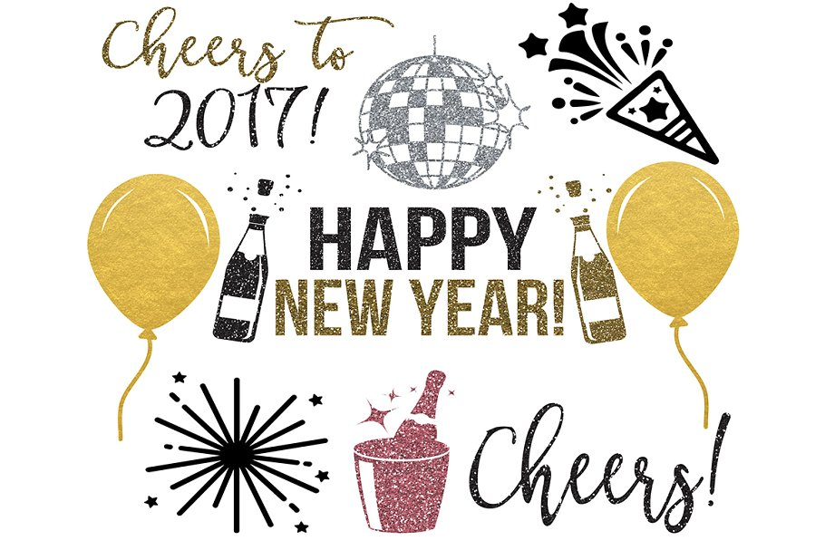 New year-s clipart picture library New Years Clipart PNG JPEG SVG picture library