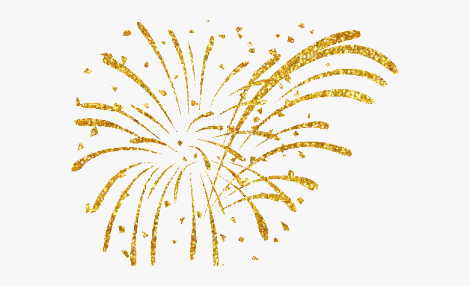 New year fireworks clipart