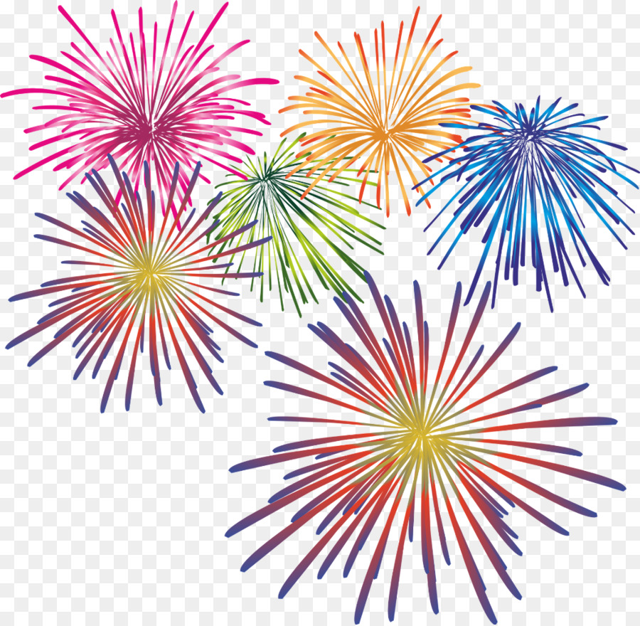 New year fireworks clipart vector free stock New Year Fireworks Cartoon clipart - Sky, Festival, transparent clip art vector free stock