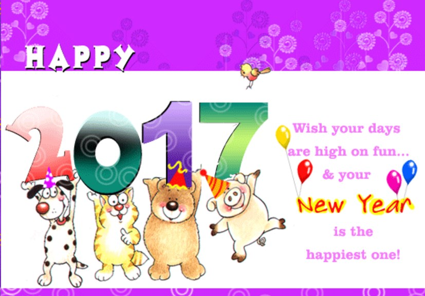 New year greeting cards clipart picture black and white download Create Happy New Year Card Clipart & Free Clip Art Images #11336 ... picture black and white download