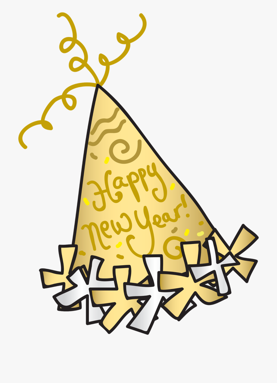 New years clipart svg library library Happy New Year Clipart Party Hat - Small New Year Clip Art ... svg library library