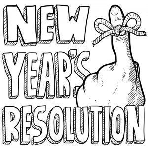 New years day spanish black and white clipart graphic royalty free History of New Years Resolutions   #WickedGood in 2019 ... graphic royalty free