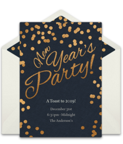 New years day spanish black and white clipart banner library stock Free New Year\'s Eve Online Invitations   Punchbowl banner library stock