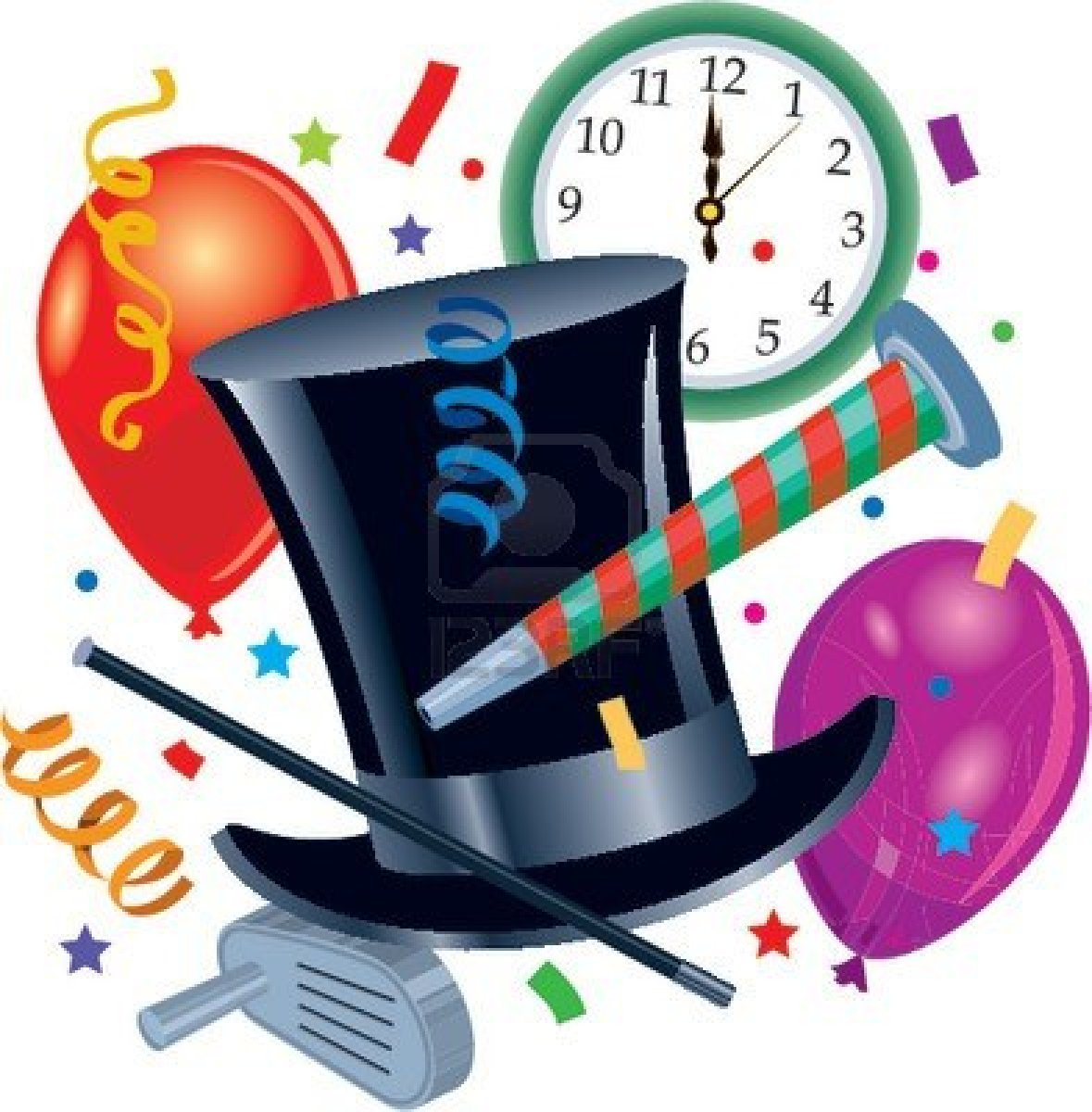 New years eve 2018 clipart graphic black and white library Free New Years Eve Party Images, Download Free Clip Art, Free Clip ... graphic black and white library