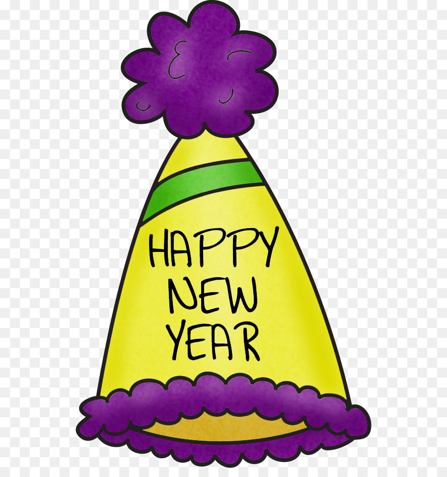 New years hat transparent background free clipart picture freeuse Christmas And New Year Background png download - 596*942 - Free ... picture freeuse