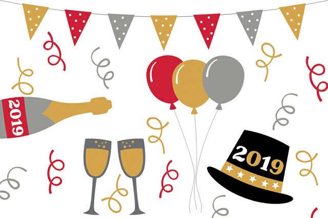 New years party clipart vector freeuse Milwaukee\'s 2019 New Year\'s Eve Guide - Shepherd Express vector freeuse