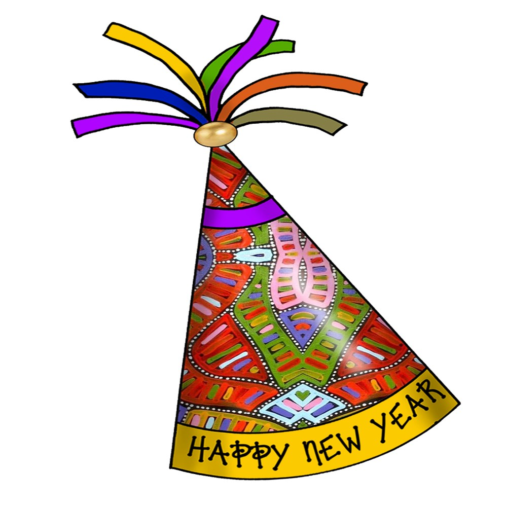 New years party hat clipart