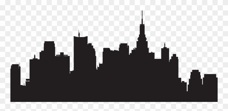 New york city skyline clipart png free stock New York City Silhouette Skyline Clipart (#118590) - PinClipart png free stock