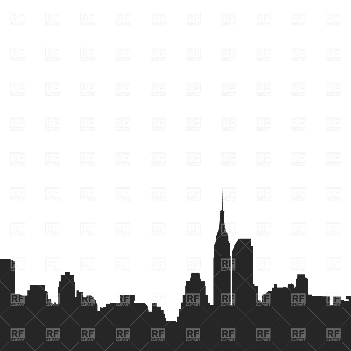 New york city free clipart black and white picture New York City Clipart | Free download best New York City ... picture