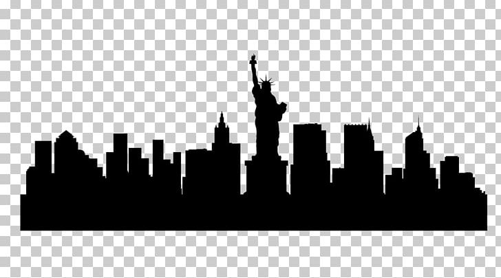 New york city illustration clipart graphic library library New York City Skyline Silhouette Illustration PNG, Clipart, Art ... graphic library library