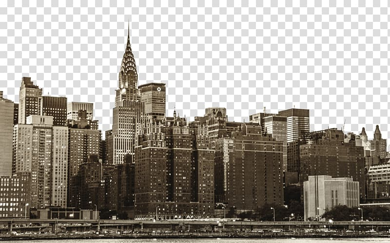 New york city illustration clipart image library library New York City illustration, Chrysler Building Skyscraper Skyline ... image library library