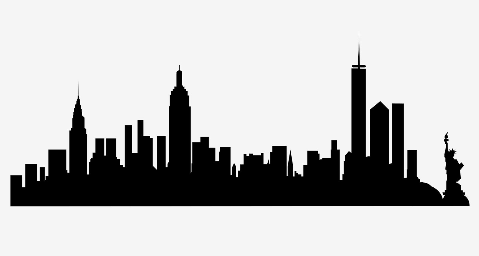 New york city silhouette clipart freeuse download New York Skyline Silhouette Clipart   Free download best New York ... freeuse download