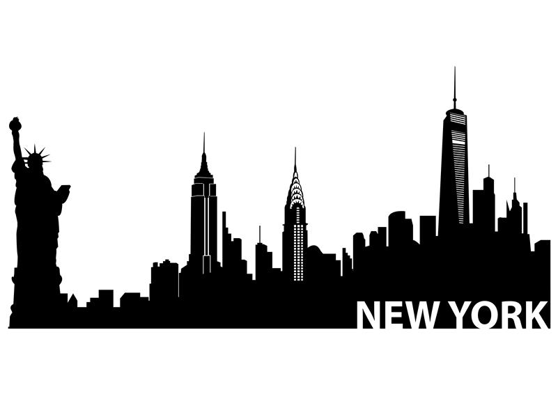 New york city skyline clipart graphic black and white Free New York Skyline Silhouette, Download Free Clip Art, Free Clip ... graphic black and white