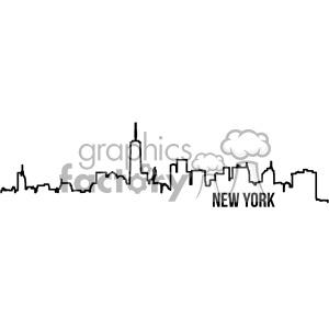 New york city skyline clipart clipart free stock new york city skyline vector art outline clipart. Royalty-free clipart #  402334 clipart free stock