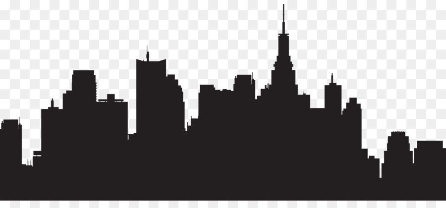 New york clipart black and white picture transparent library New York City PNG Black And White Transparent New York City Black ... picture transparent library
