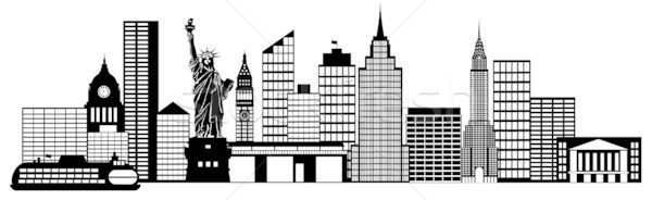 New york clipart black and white clip transparent stock New york clipart black and white 7 » Clipart Portal clip transparent stock
