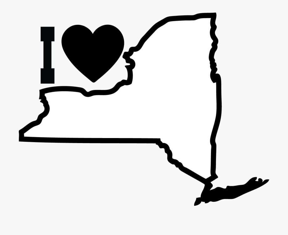 New york clipart black and white banner transparent library Images For Black Heart Outlines - Draw New York State Outline ... banner transparent library