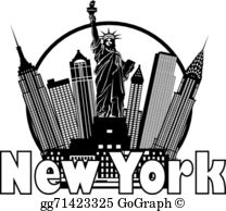 New york clipart images clip black and white stock New York City Clip Art - Royalty Free - GoGraph clip black and white stock