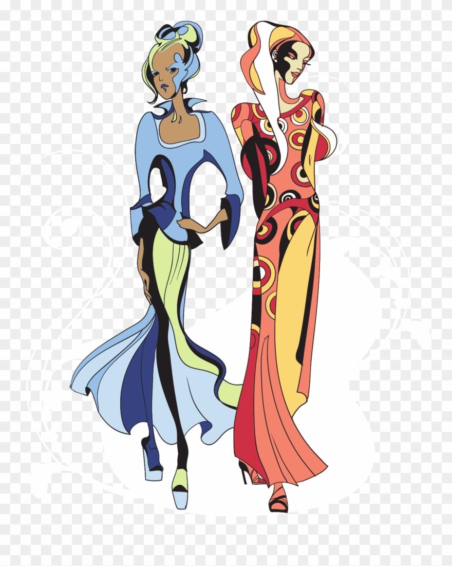 New york fashion week logo clipart clip transparent New York Fashion Week Model Runway - Medieval Woman Illustration Png ... clip transparent