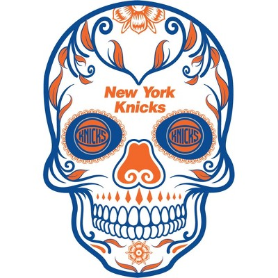 New york knicks clipart png black and white NBA New York Knicks Small Outdoor Skull Decal png black and white