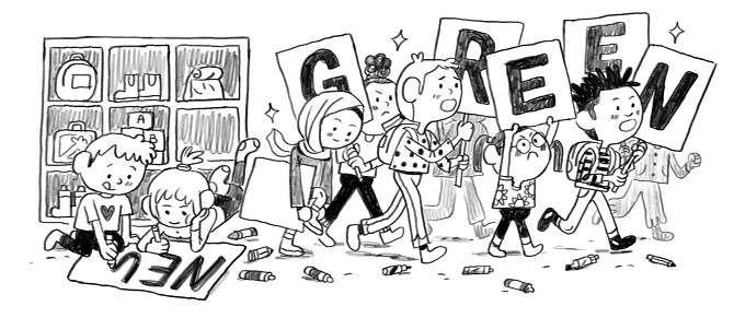 New york times clipart clip library library New York Times Sketchbook / The Kids are All Fight - Natalie Andrewson clip library library