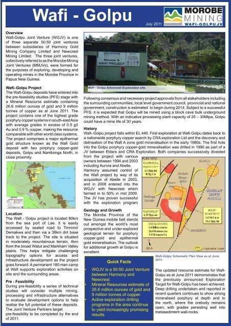 Morobe mining clipart jpg free download Wafi golpu gold jpg free download