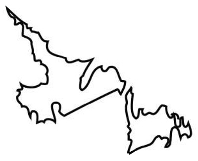 Newfoundland clipart banner black and white stock Newfoundland map clipart 5 » Clipart Station banner black and white stock