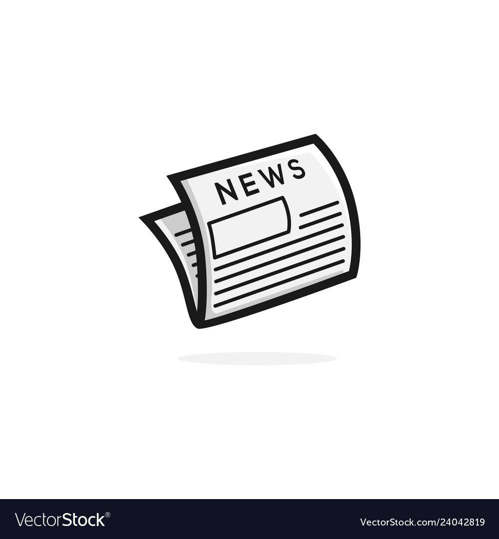 News clipart logo banner black and white stock Newspaper logo icon clipart banner black and white stock
